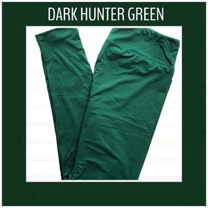 OS, TC, or TC2 Dark Green LuLaRoe Leggings